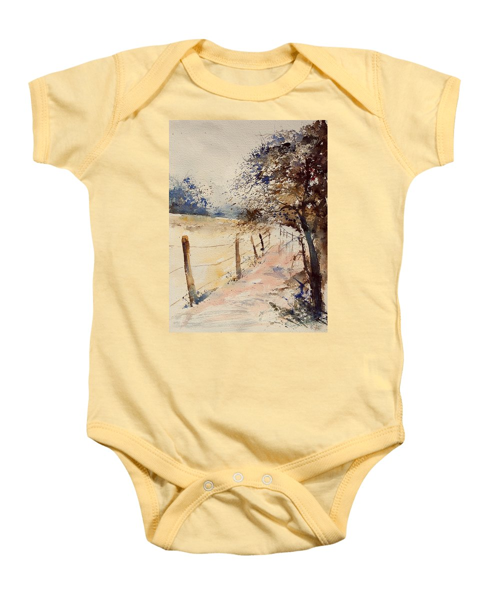 Tree Baby Onesie featuring the painting Watercolor 041106 by Pol Ledent