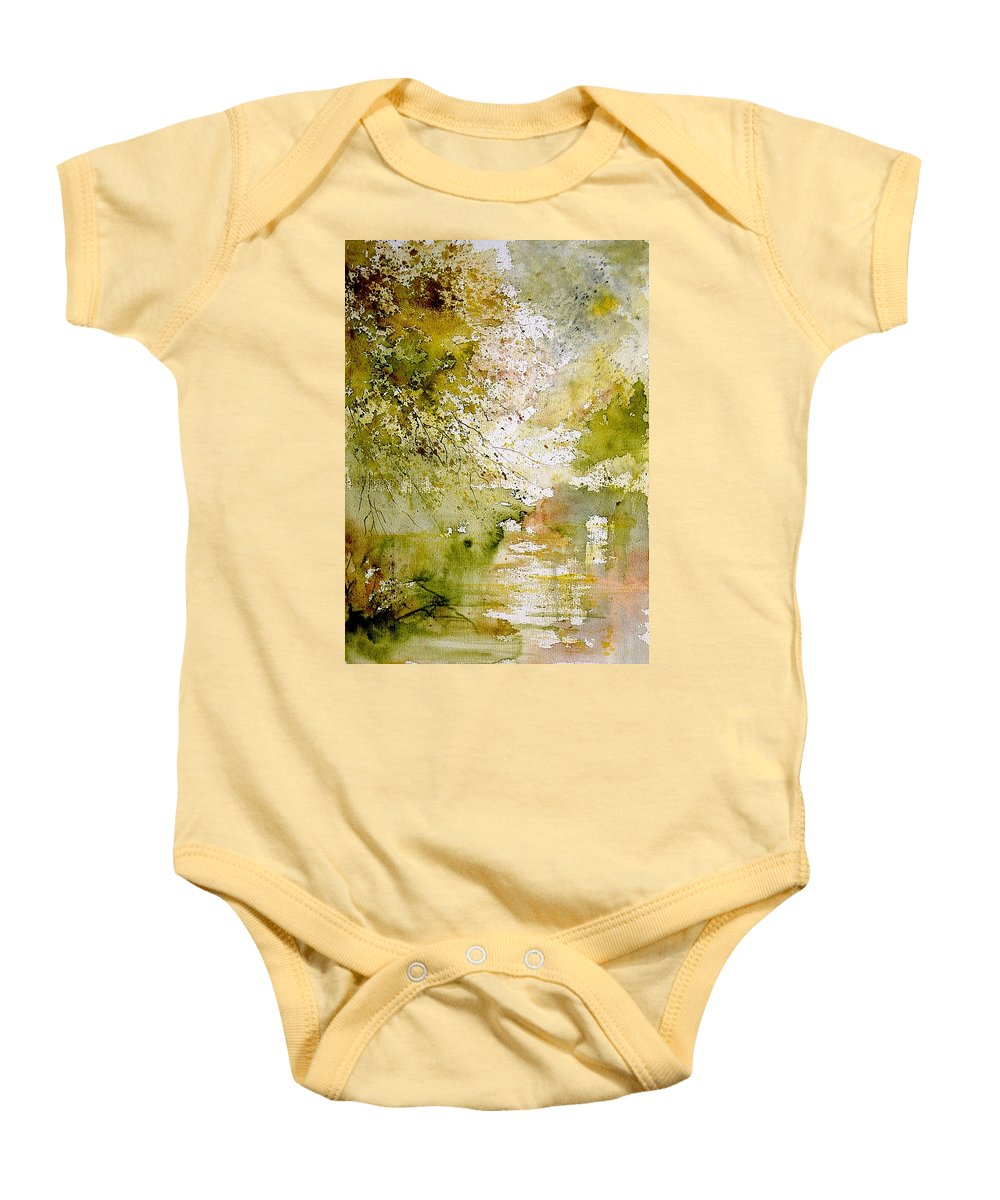 Water Baby Onesie featuring the painting Watercolor 211005 by Pol Ledent