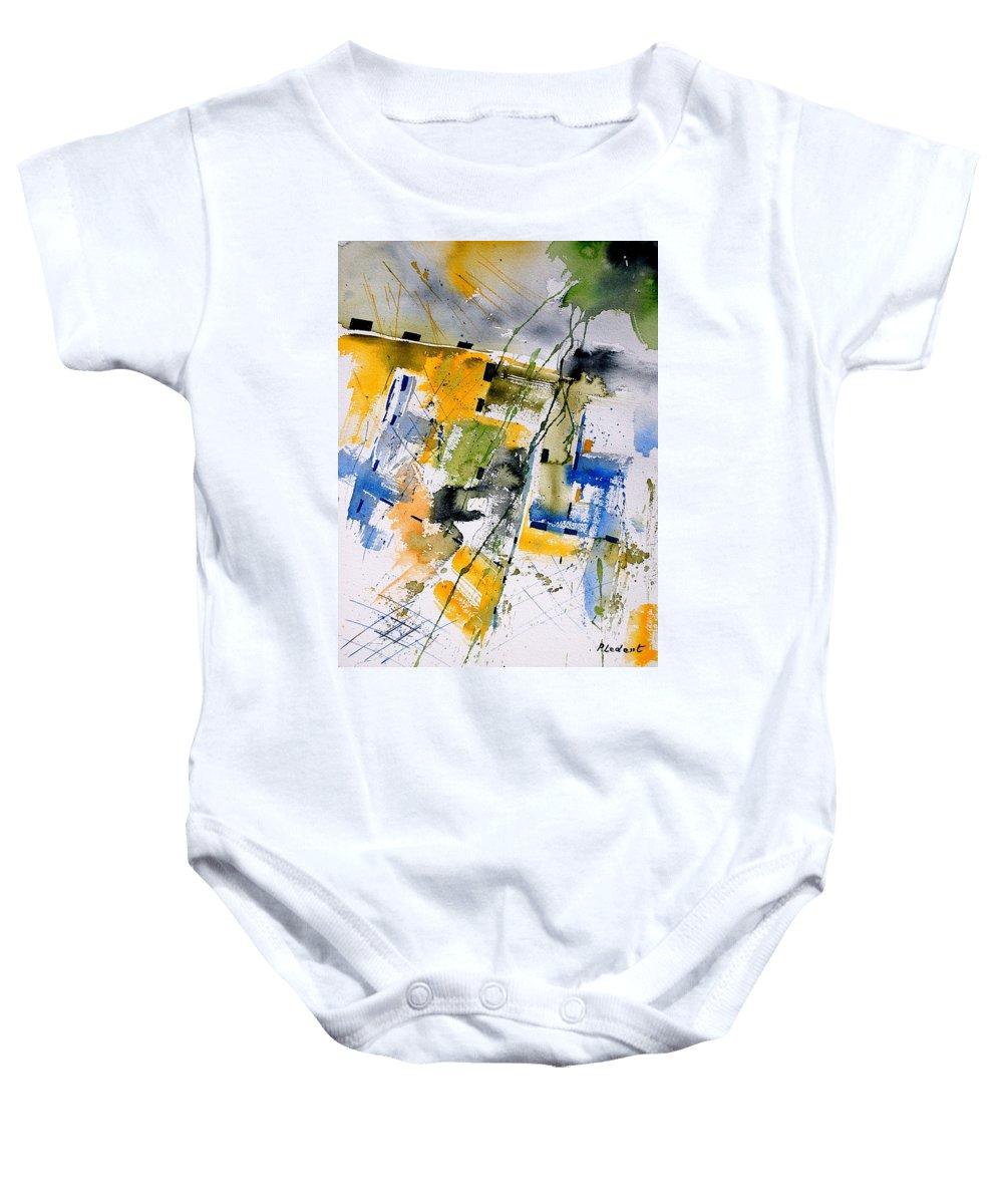 Abstract Baby Onesie featuring the painting Watercolor 161106 by Pol Ledent
