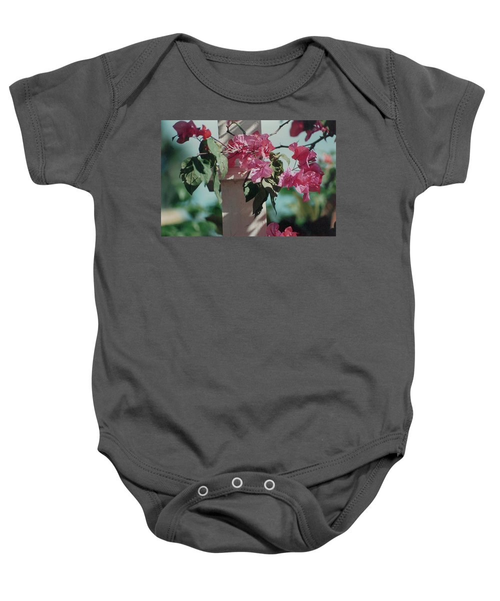 Charity Baby Onesie featuring the photograph Bouganvillea by Mary-Lee Sanders
