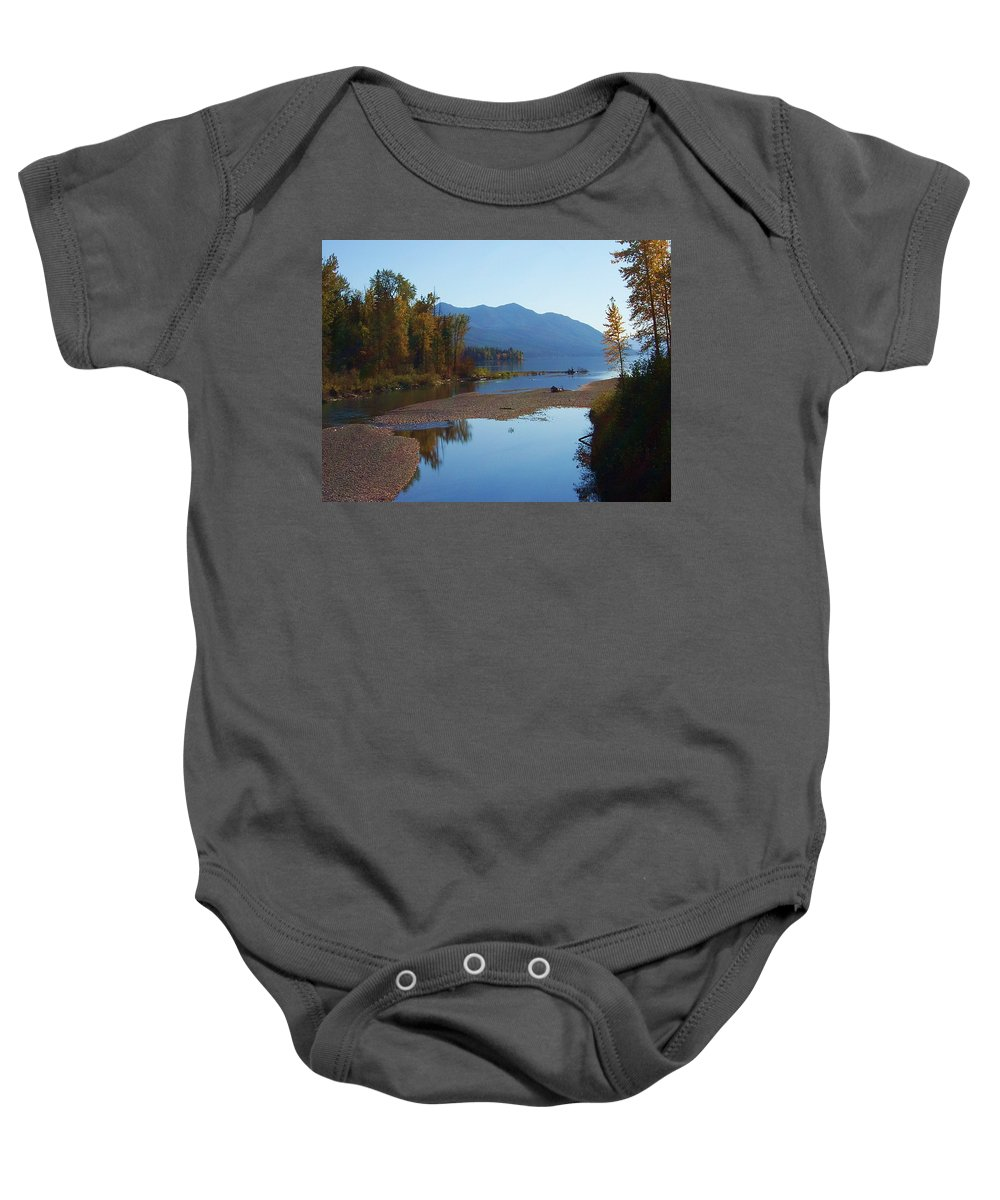 Montana Baby Onesie featuring the photograph Glacier Park 11 by Deahn   Benware