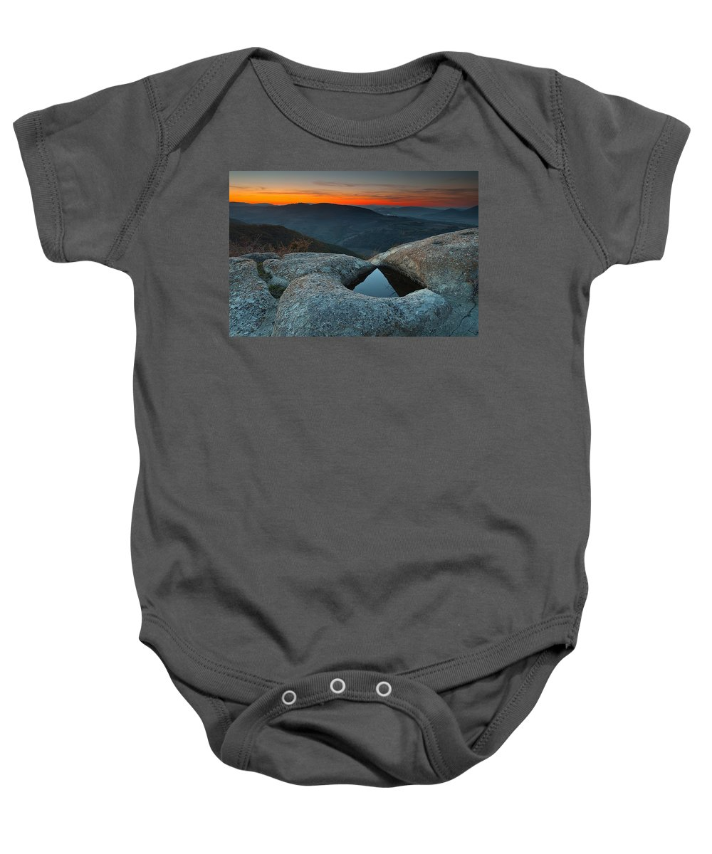 Mountain Baby Onesie featuring the photograph Sanctuary by Evgeni Dinev