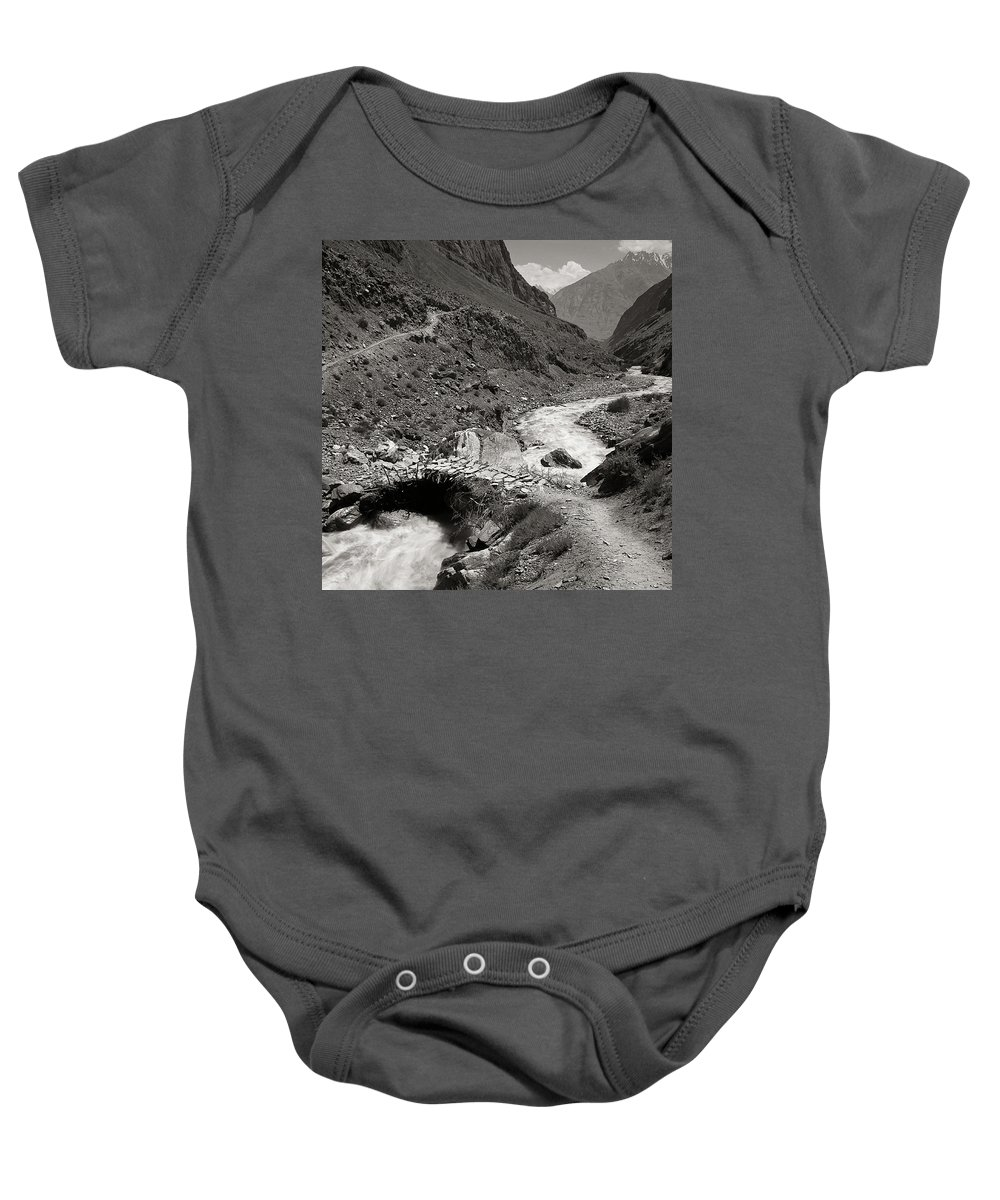 Active Baby Onesie featuring the photograph The Crossing by Konstantin Dikovsky