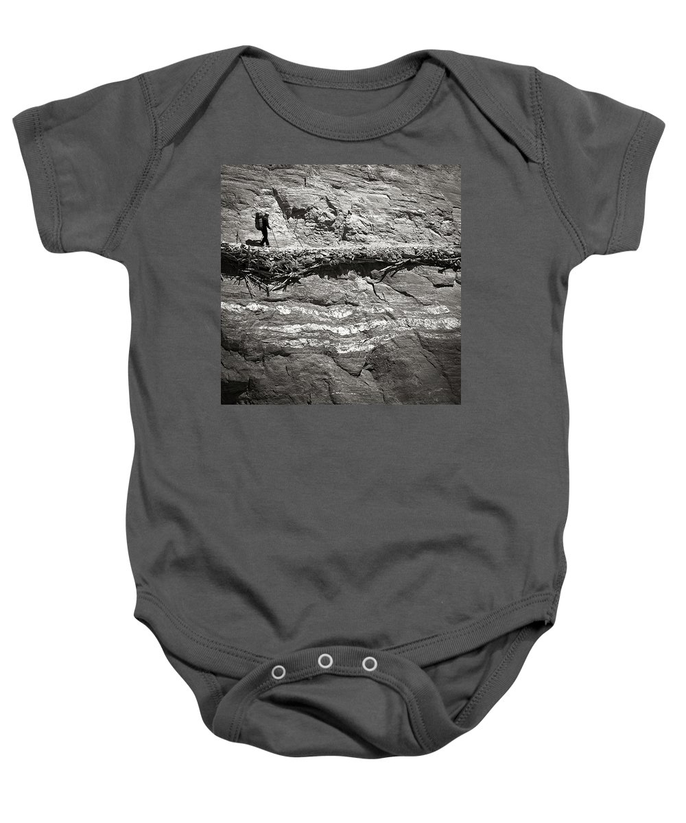 Alone Baby Onesie featuring the photograph The Path by Konstantin Dikovsky