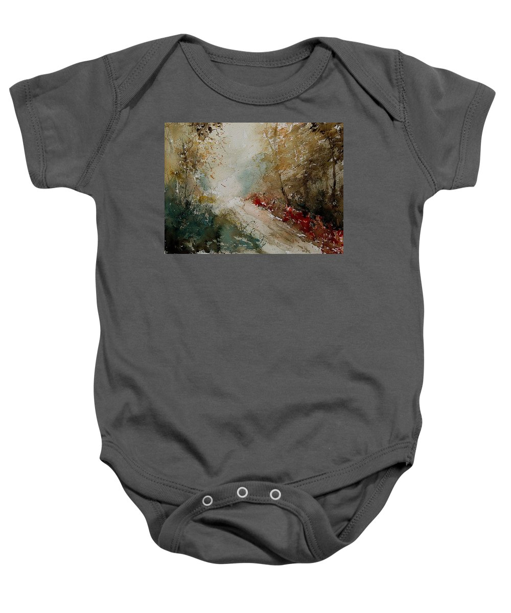 Tree Baby Onesie featuring the painting Watercolor 311005 by Pol Ledent