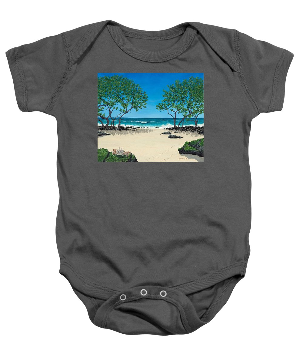 Ocean Baby Onesie featuring the painting Where Is My Corona by Shawn Stallings
