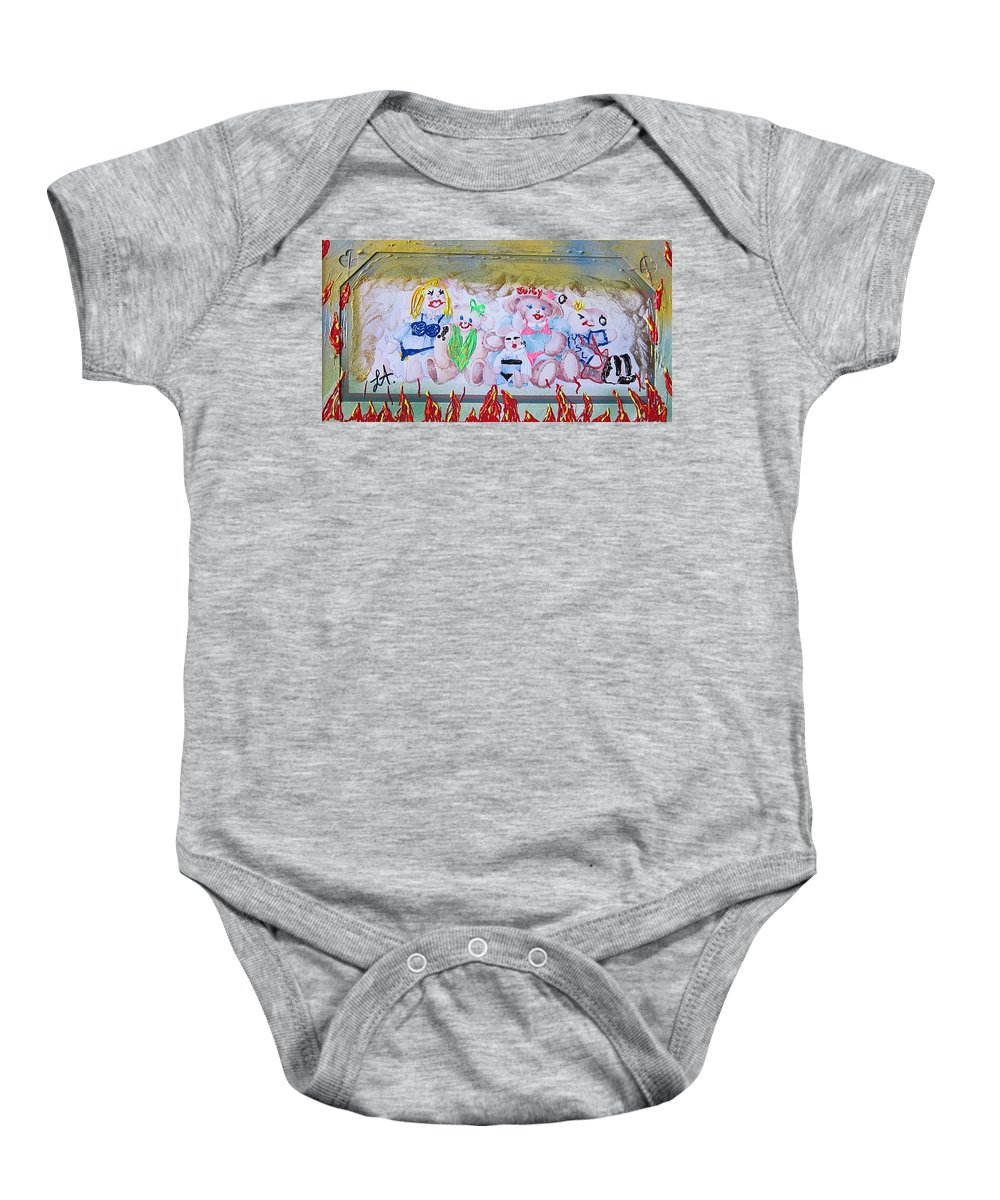 Adult Baby Onesie featuring the painting Bad Bears by Lisa Piper