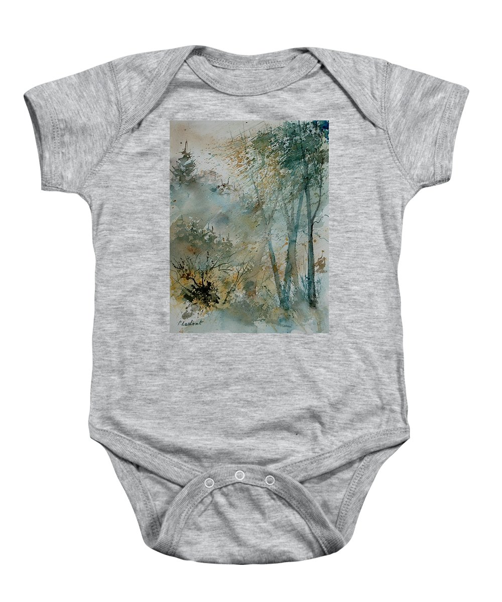 Tree Baby Onesie featuring the painting Watercolor 051008 by Pol Ledent
