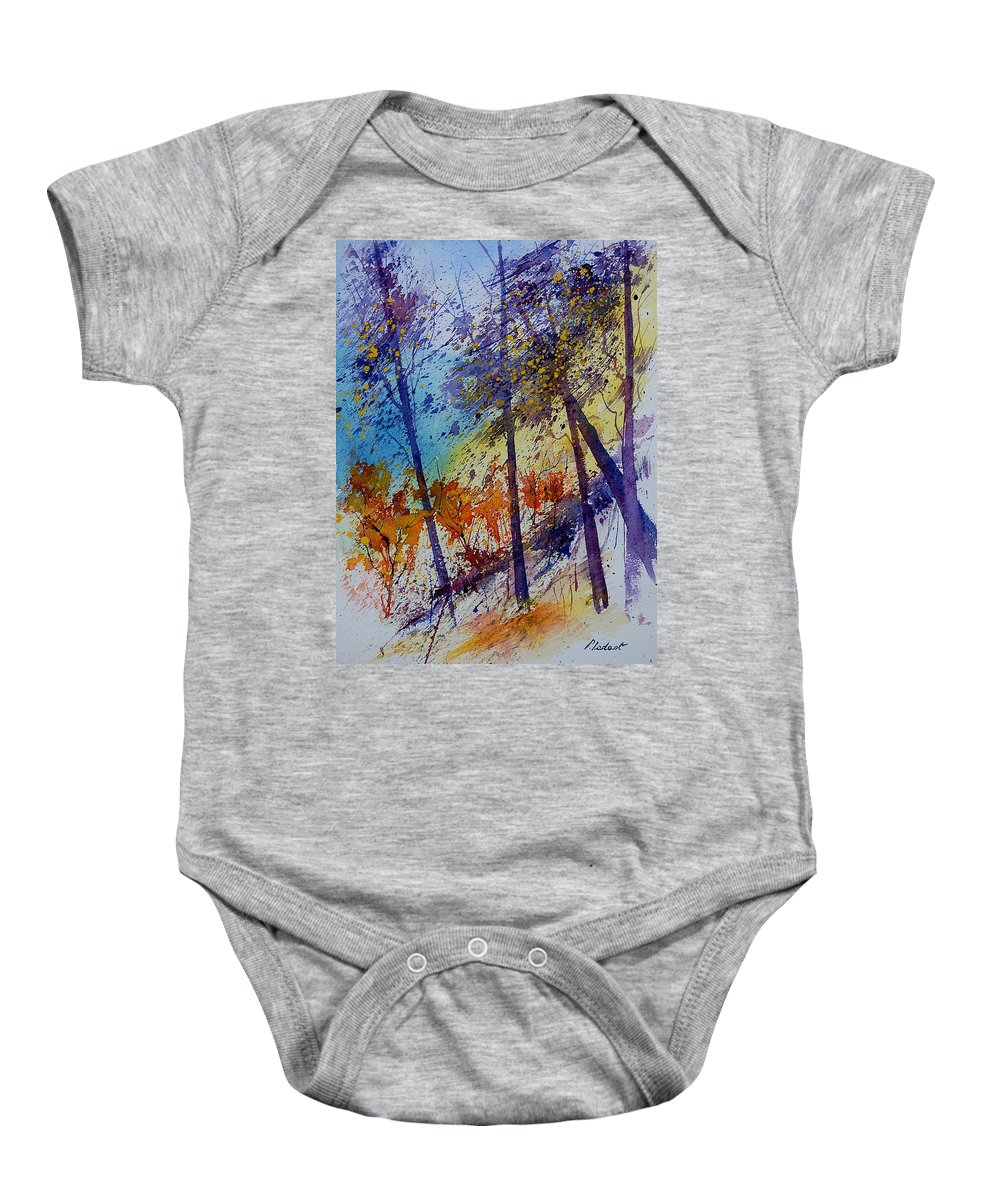 Spring Baby Onesie featuring the painting Watercolor 131108 by Pol Ledent