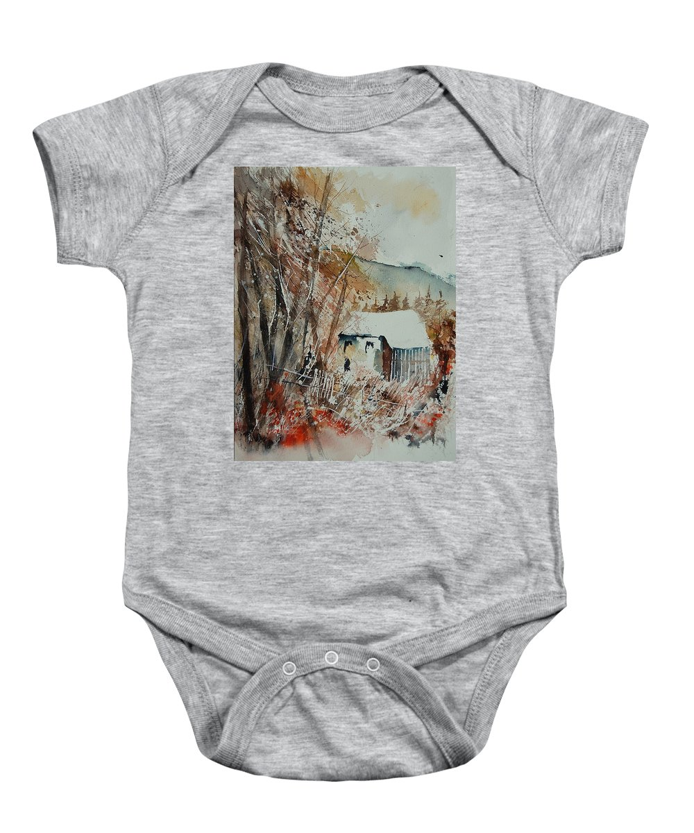 Tree Baby Onesie featuring the painting Watercolor 902001 by Pol Ledent