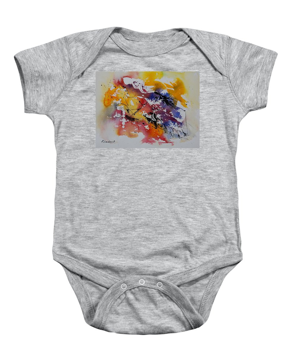 Abstract Baby Onesie featuring the painting Watercolor 902022 by Pol Ledent