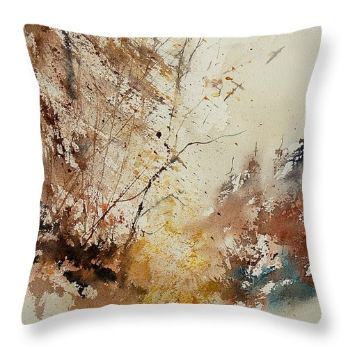 Tree Throw Pillow featuring the painting Watercolor 903012 by Pol Ledent