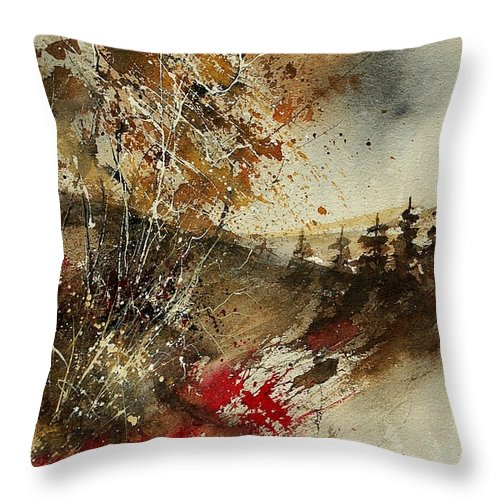Tree Throw Pillow featuring the painting Watercolor 903052 by Pol Ledent