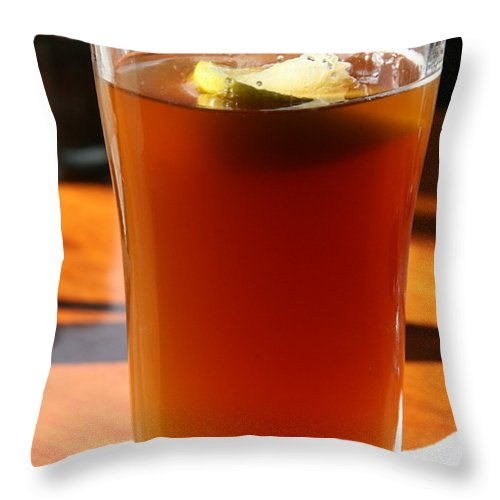 Beer Throw Pillow featuring the photograph Ahhhhh by JoJo Photography