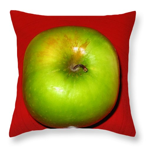Apple Throw Pillow featuring the photograph Apple by Jessica Wakefield