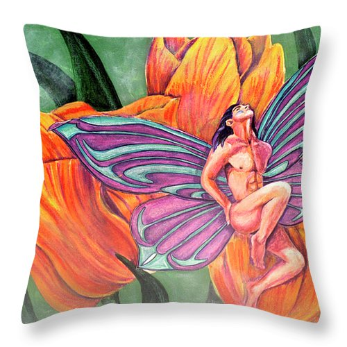 Asperity Throw Pillow featuring the painting Asperity by Bobby Jones