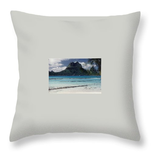 Charity Throw Pillow featuring the photograph Bora Bora by Mary-Lee Sanders