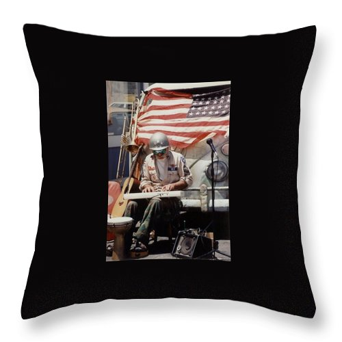 Charity Throw Pillow featuring the photograph Born In The Usa by Mary-Lee Sanders