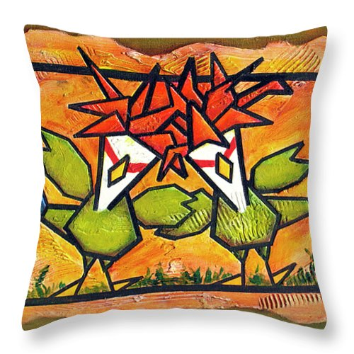 Buddy Throw Pillow featuring the painting Buddies by Bobby Jones