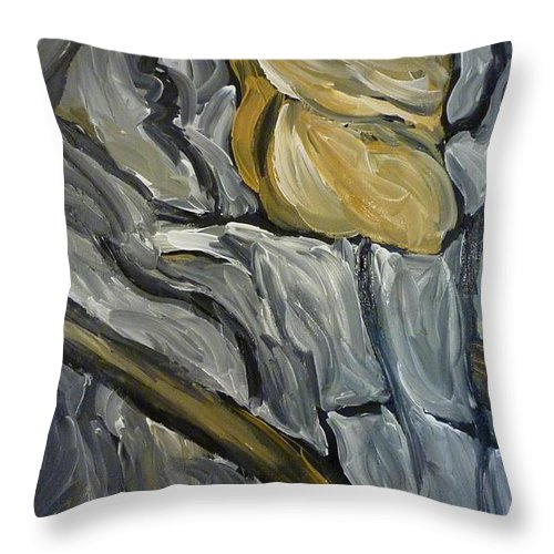 Chariot Throw Pillow featuring the painting Chariot Rider by Joshua Redman