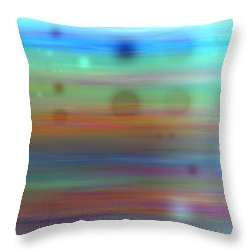 Art Digital Art Throw Pillow featuring the digital art Color26mlv - Impressions by Alex Porter