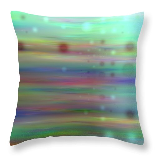 Art Digital Art Throw Pillow featuring the digital art Colour16mlv - Impressions by Alex Porter
