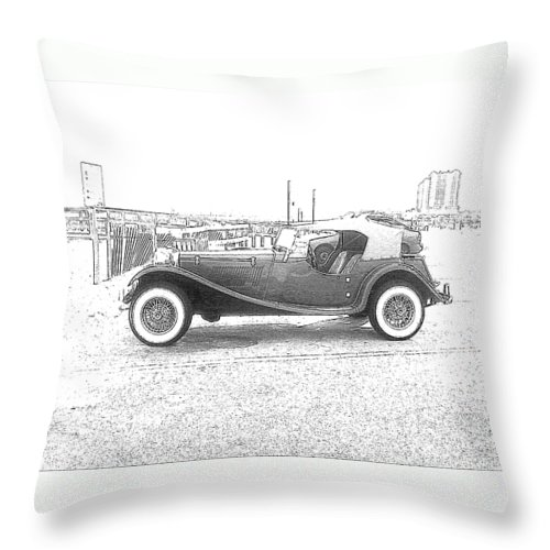 Antique Car Throw Pillow featuring the photograph Convertible Antique Car by Michelle Powell