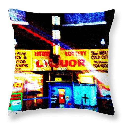 Store Throw Pillow featuring the photograph Corner Store by Albert Stewart
