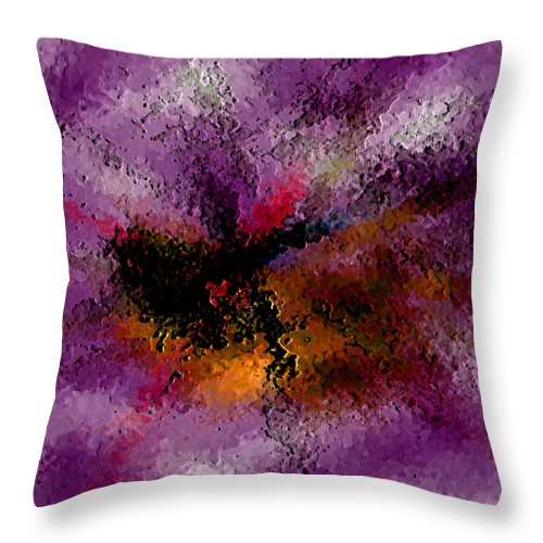 Abstract Throw Pillow featuring the digital art Damaged But Not Broken by Ruth Palmer