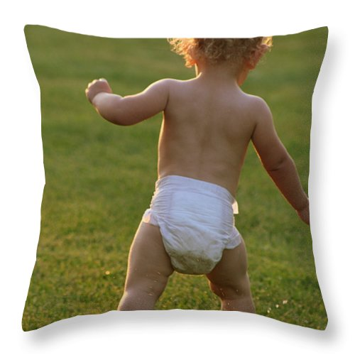 Diaper Throw Pillow featuring the photograph Depends by JoJo Photography