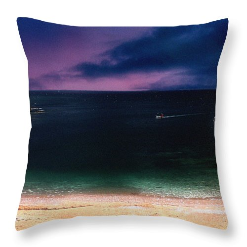 Sunset Throw Pillow featuring the photograph Evening On The Headland by Cliff Norton