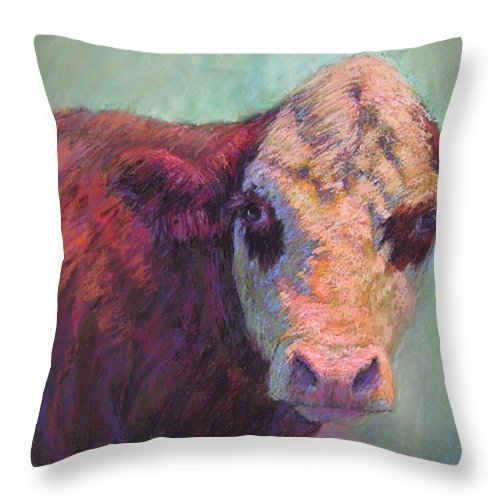 Farm Animals Throw Pillow featuring the painting Guardian by Susan Williamson