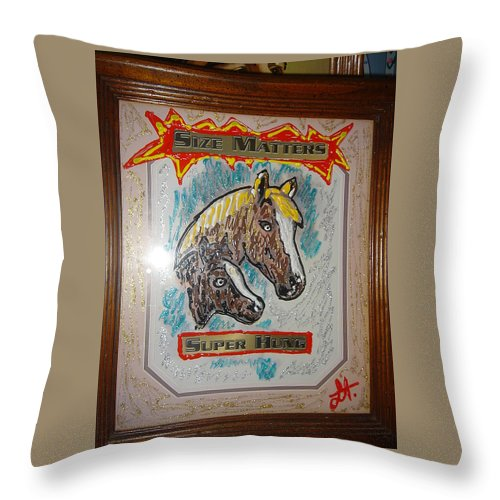 Horses Throw Pillow featuring the painting Horses by Lisa Piper
