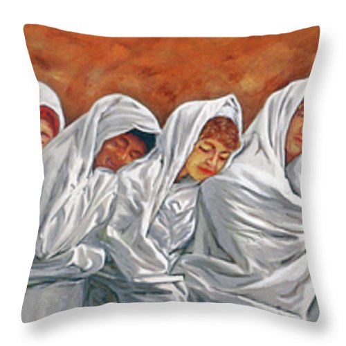 Light Throw Pillow featuring the painting Into The Light by Bobby Jones