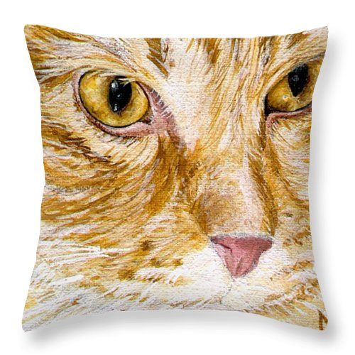 Charity Throw Pillow featuring the painting Leo by Mary-Lee Sanders