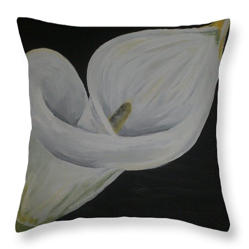 Lily Throw Pillow featuring the painting Lily Three by Lisa Leeman