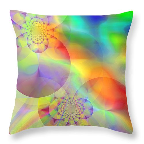 Abstract Throw Pillow featuring the digital art Mind Over Matter by Ruth Palmer