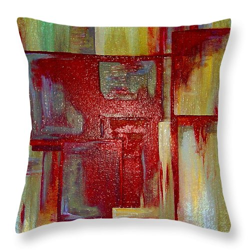 Abstract Throw Pillow featuring the digital art Sections Revisited by Ruth Palmer
