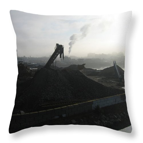 Photograph Ship Yard Ocean Water Victoria Throw Pillow featuring the photograph Shipyard by Seon-Jeong Kim