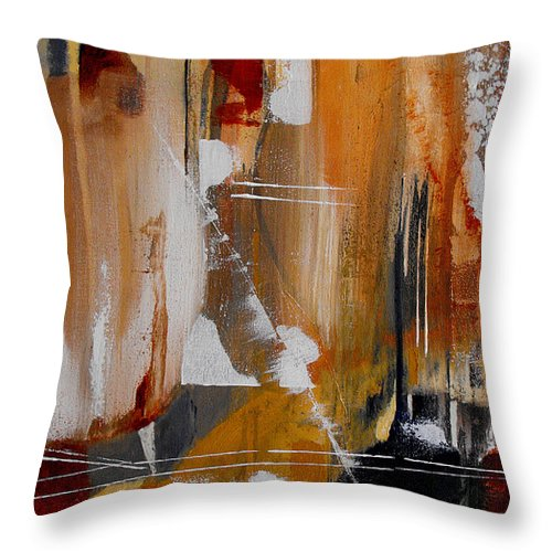 Abstract Throw Pillow featuring the painting Turbulent Times II by Ruth Palmer