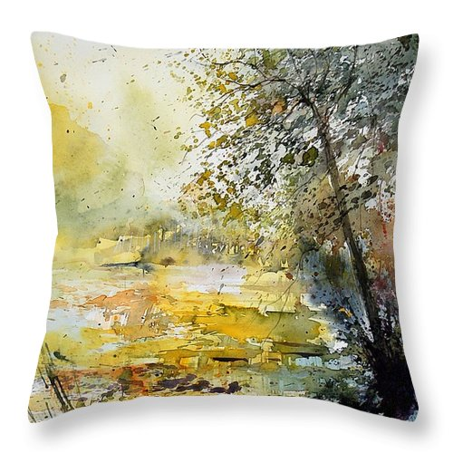 Water Throw Pillow featuring the painting Watercolor 050906 by Pol Ledent