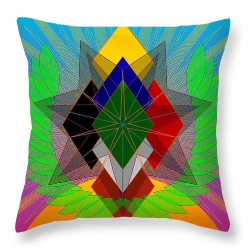 Digital Throw Pillow featuring the digital art We N' De Ya Ho 2012 by Kathryn Strick