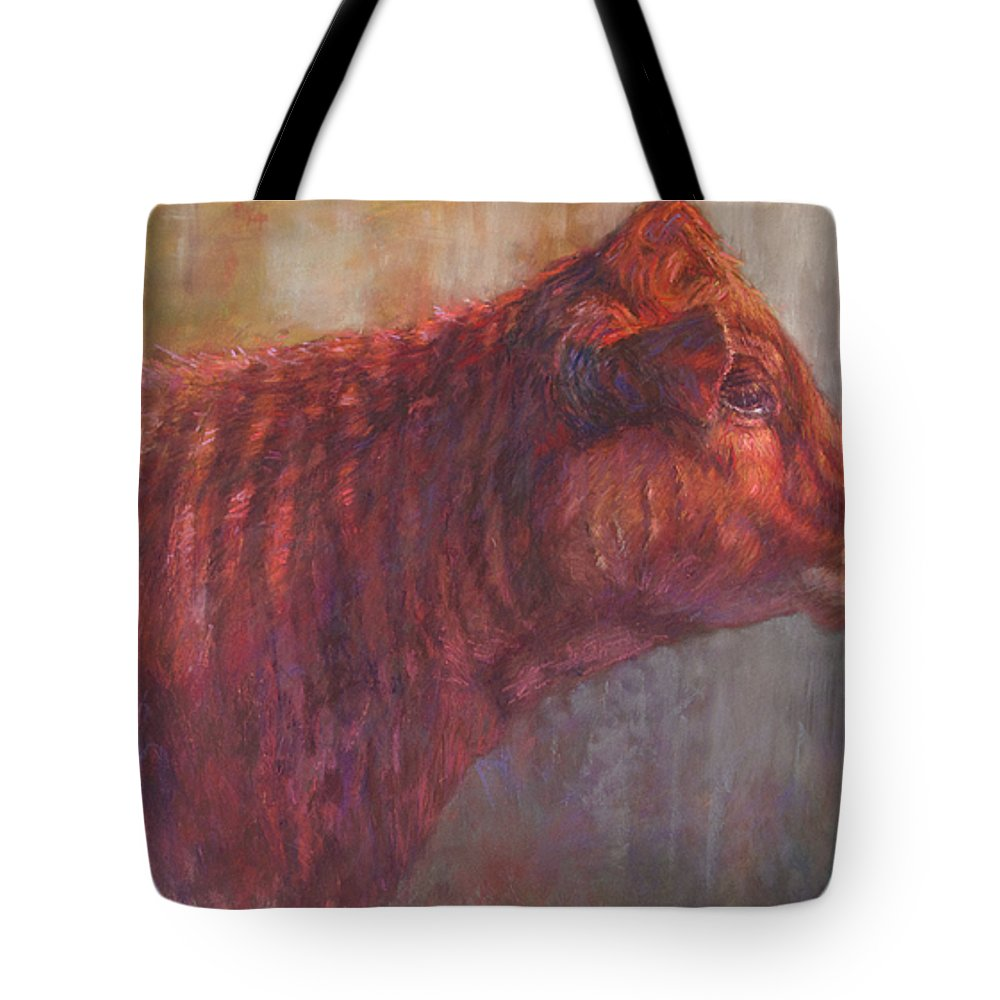 Cows Tote Bag featuring the painting Amira by Susan Williamson