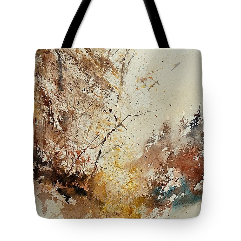 Tree Tote Bag featuring the painting Watercolor 903012 by Pol Ledent