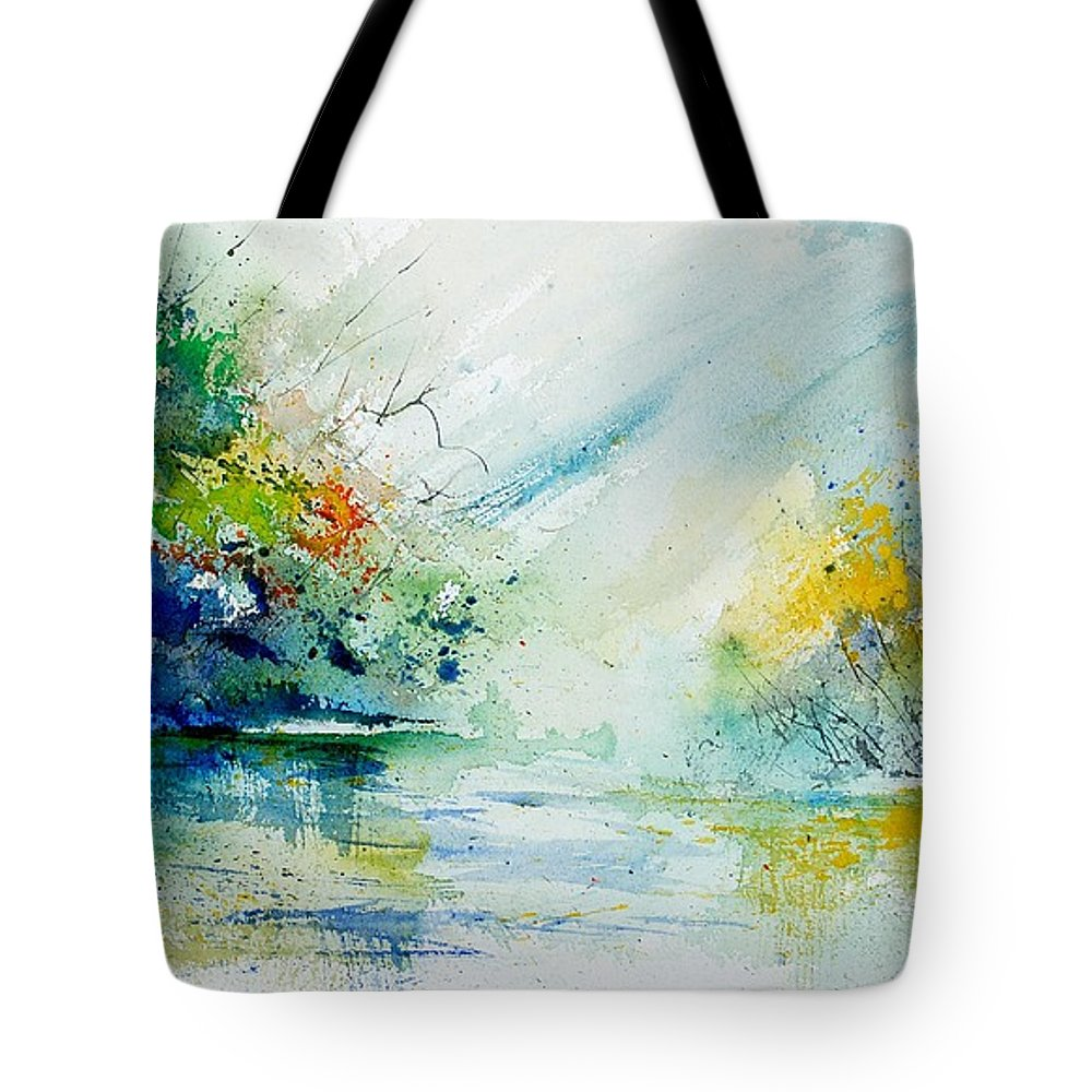 Water Tote Bag featuring the painting Watercolor 903022 by Pol Ledent