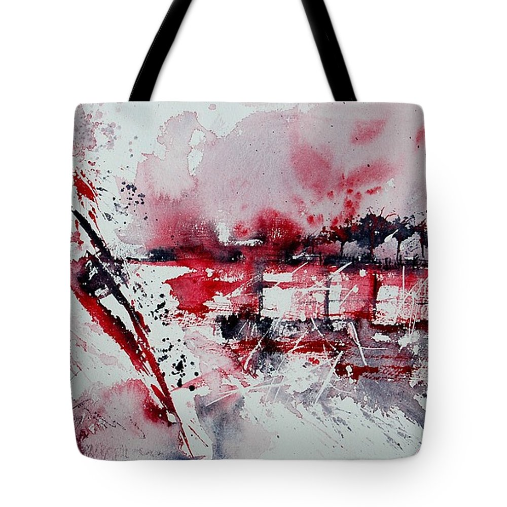 Abstract Tote Bag featuring the painting Abstract 12 by Pol Ledent