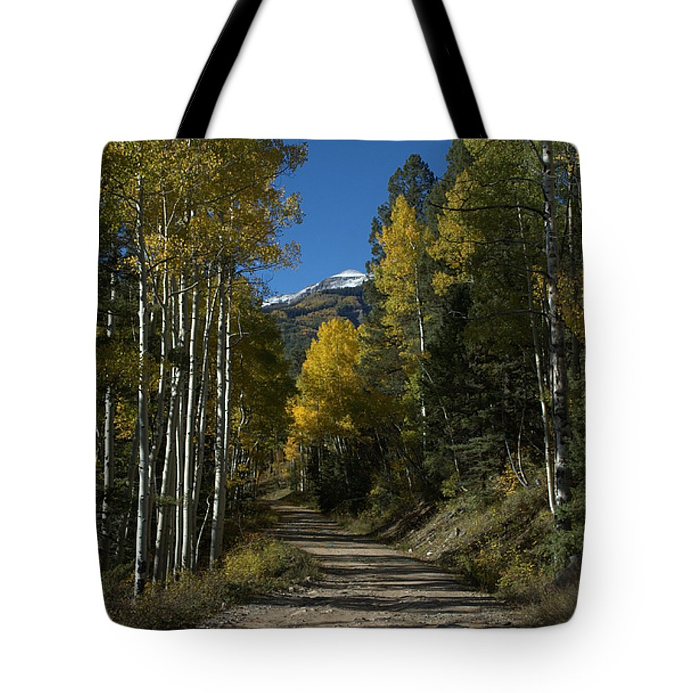 Aspen Tote Bag featuring the photograph Aspen Lane by Jerry McElroy