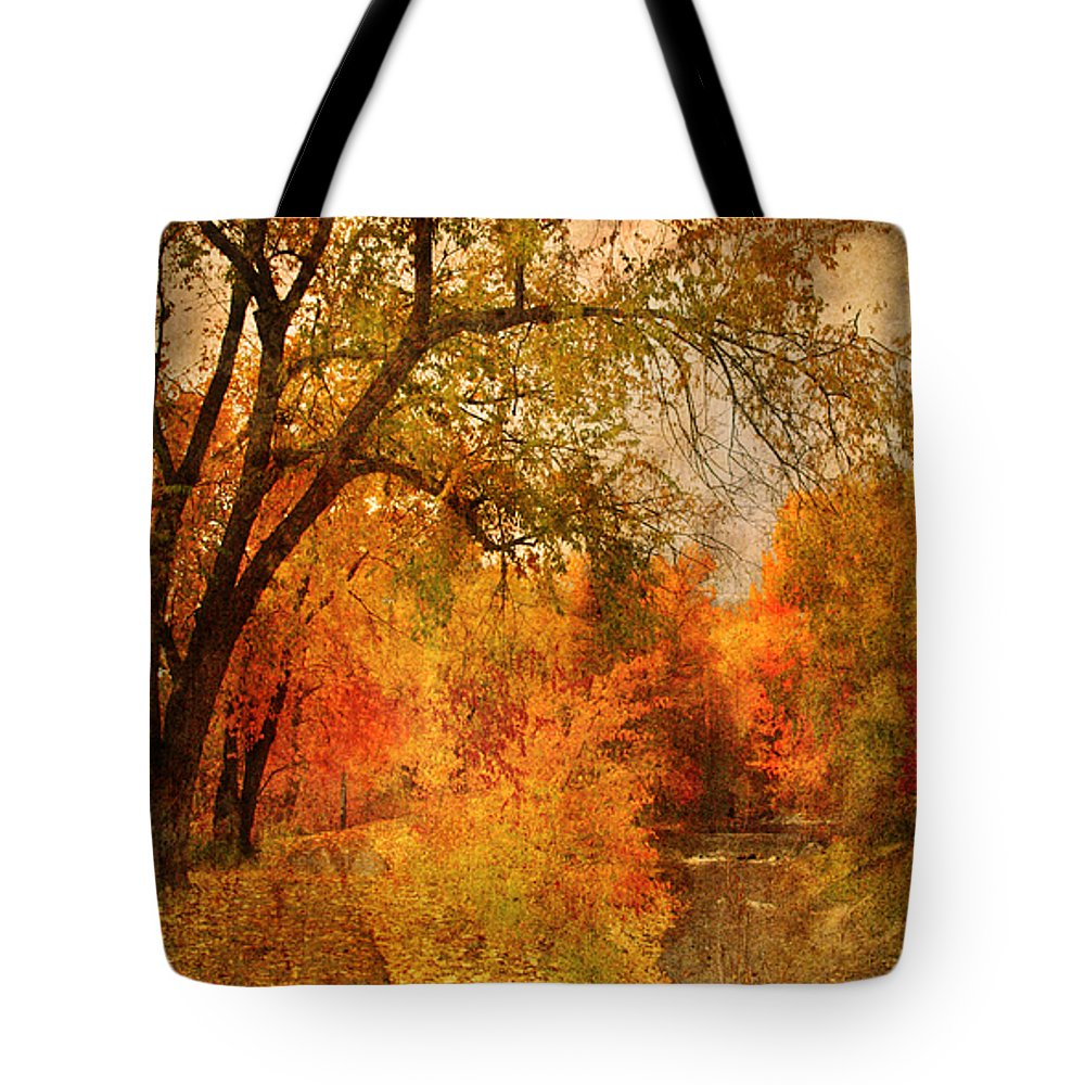 Pathway Tote Bag featuring the photograph Autumn Pathways by Tara Turner