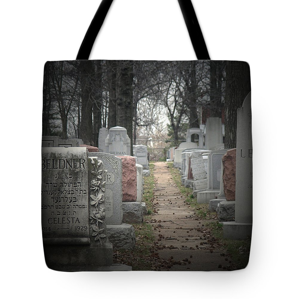 Cemetary Tote Bag featuring the photograph Closure by Albert Stewart