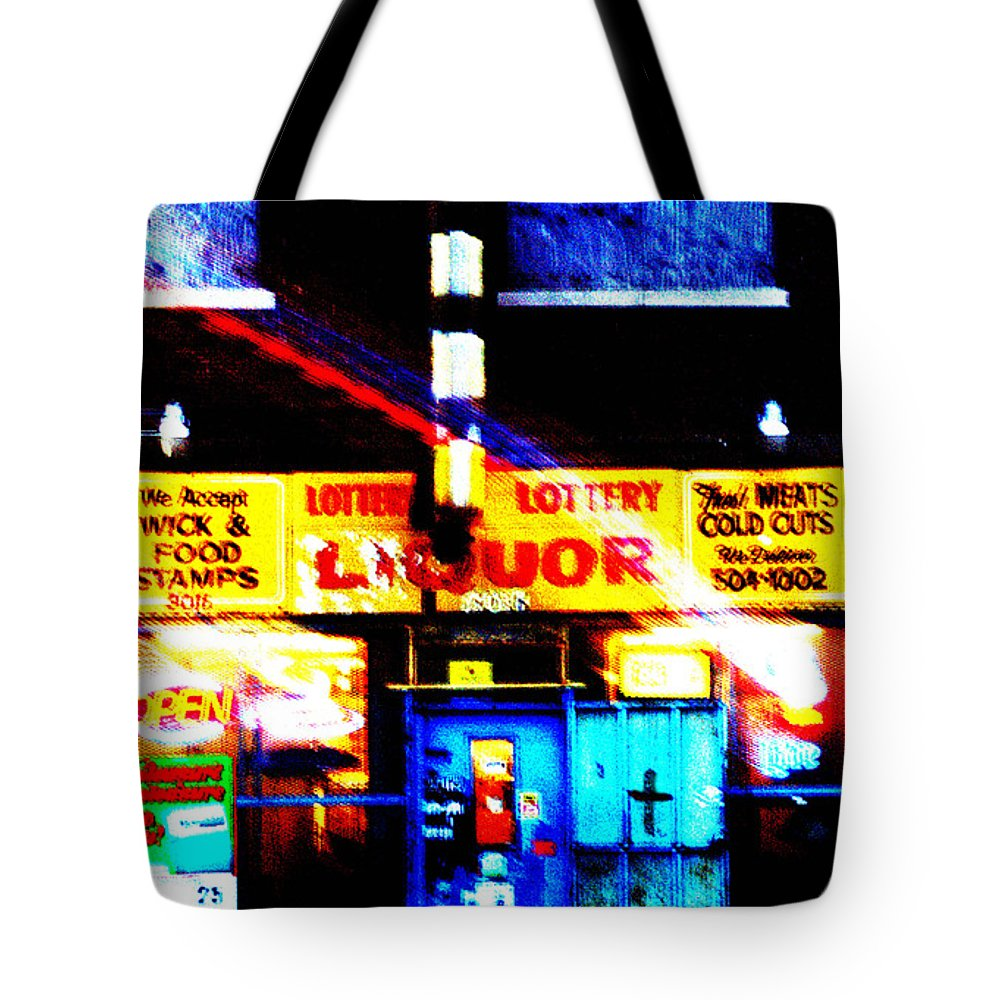Store Tote Bag featuring the photograph Corner Store by Albert Stewart